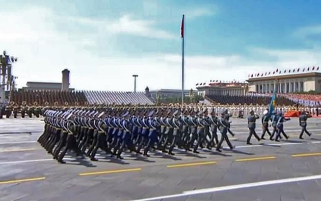 Нурсултан Назарбаев принял участие в параде в Пекине