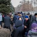 Жители 5 городов РК вышли на митинг к Нацбанку
