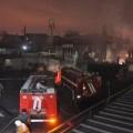Крупный пожар на барахолке
