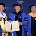ПрезидентуРК присвоено звание Почетного доктора наук вЮжной Корее