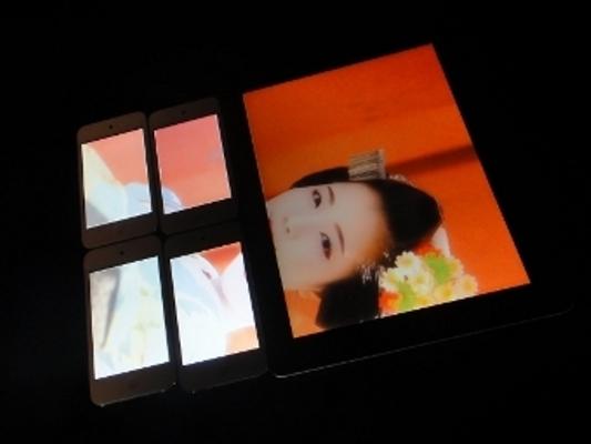 Составлен большой экран из смартфонов и планшетов