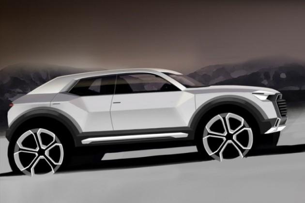 Audi Q1: первый скетч