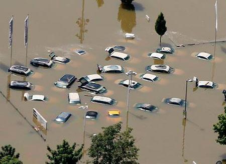 Миллиардные убытки нанесло наводнение Германии