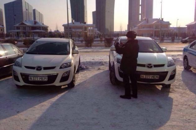 Автомобили с одинаковым номером