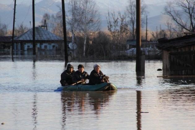 180 домов подтоплено в Акмолинской области из-за паводка