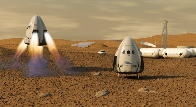 Илон Маск планирует отправить человека на Марс в 2025 году