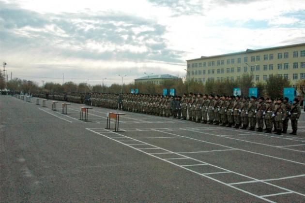 Около 500 новобранцев официально вступили в ряды Вооруженных Сил РК