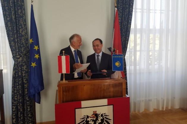 Кайрат Кожамжаров посетил срабочим визитом Австрию