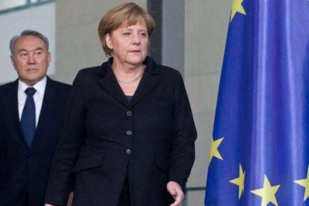 Назарбаев, Путин и Меркель обсудили ситуацию в Крыму