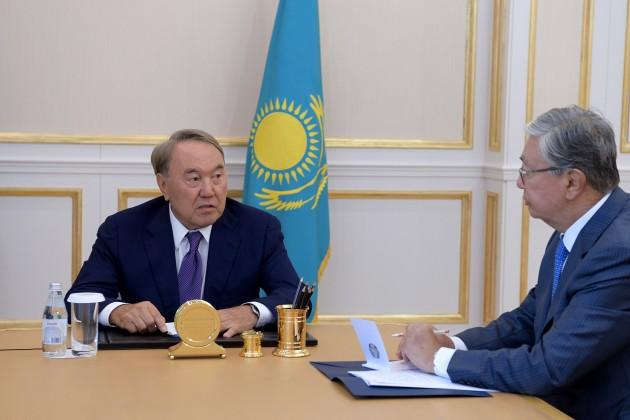 Нурсултан Назарбаев встретился сКасым-Жомартом Токаевым