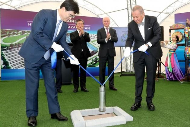 В Алматы начали строить автозавод Hyundai