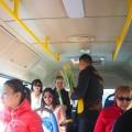 Контролеры поздравляют женщин в общественном транспорте Алматы