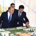 Нурсултан Назарбаев посетил строящийся центр вКараганде