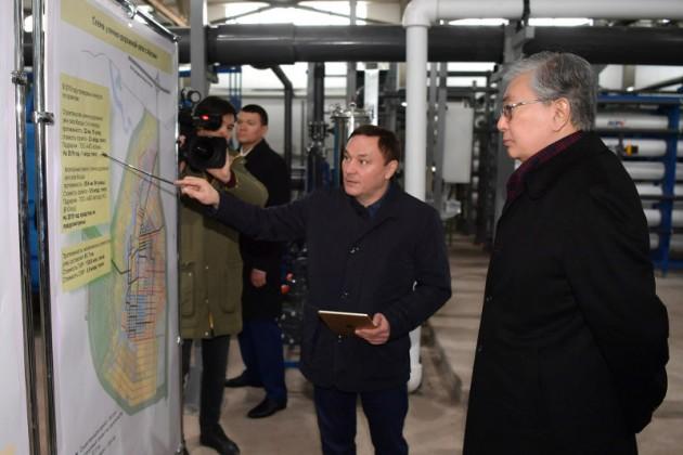 Президент посетил село Косшы