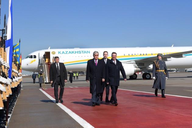 Касым-Жомарт Токаев прибыл в Россию