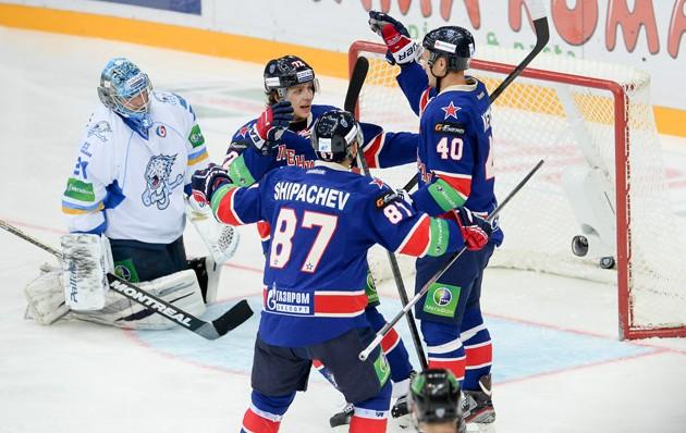 «Барыс» на равных бился с лидером регулярного чемпионата КХЛ