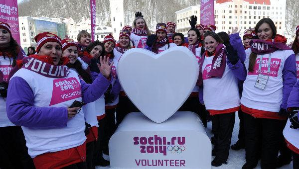 В составе волонтеров на Играх в Сочи есть немало казахстанцев