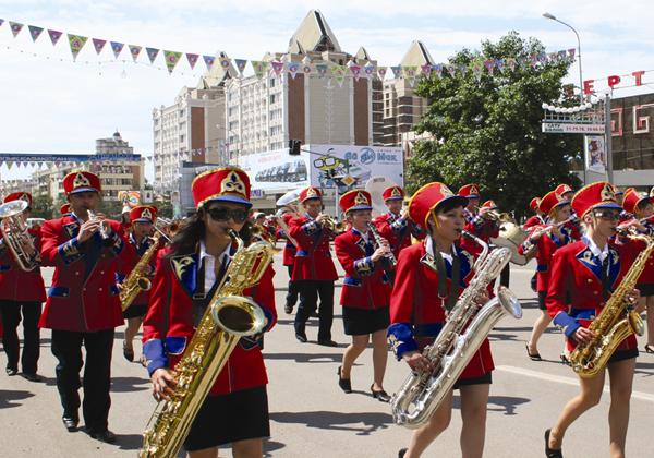 Шествие духовых оркестров пройдет в Астане