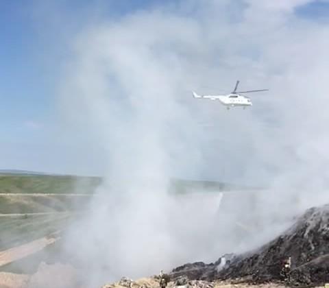К тушению пожара в Алматинской области привлечены 11 пожарных машин