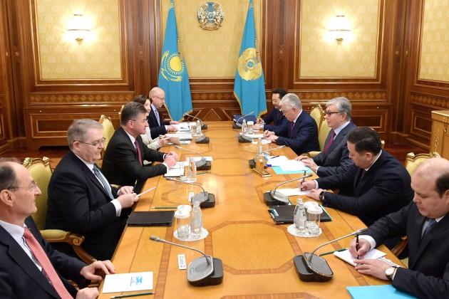 Президент Казахстана встретился с председателем ОБСЕ