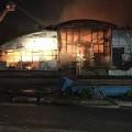 В Шымкенте произошел крупный пожар