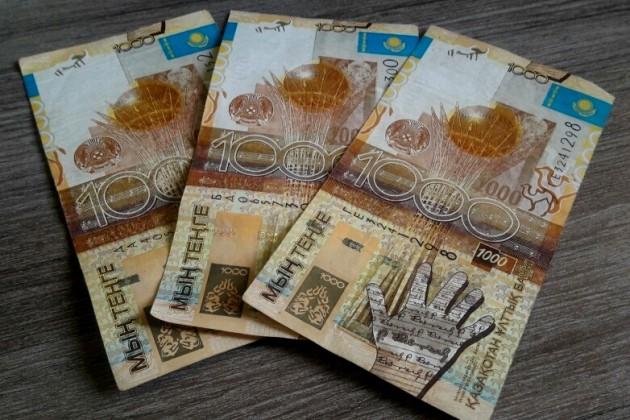 Завершается обмен старых банкнот номиналом 1000тенге