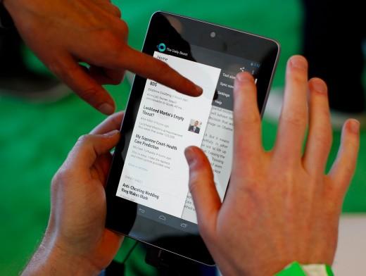В июле Google выпустит дешевый планшет