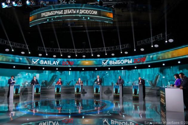 В Казахстане начались дебаты кандидатов в Президенты