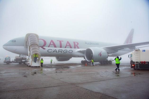 В Алматы встретили первый грузовой рейс Qatar Airways Cargo