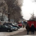 В центре Алматы горят складские помещения