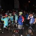 Алматинские велосипедисты засветились на улицах
