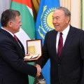 Президент вручил Королю Иордании международную премию