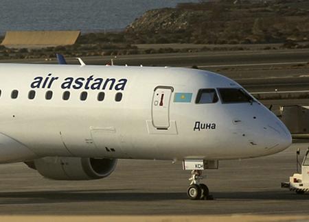 Эйр Астана приобрела новый авиалайнер Embraer 190