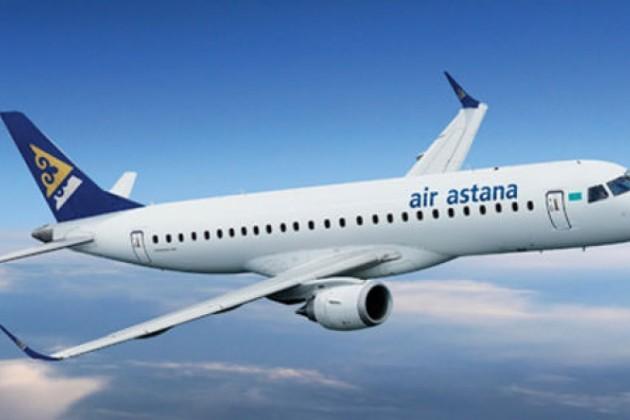 Эйр Астана выполняет рейсы из Дели альтернативным маршрутом
