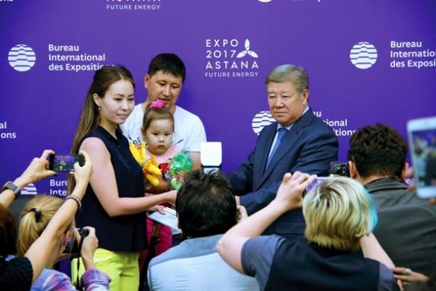 Миллионным посетителем Астана ЭКСПО-2017стала жительница столицы
