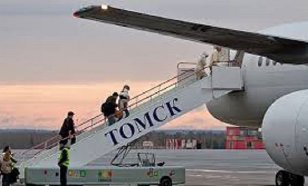 Аэропорт Томска рассчитывает на запуск в 2014 году рейсов в РК