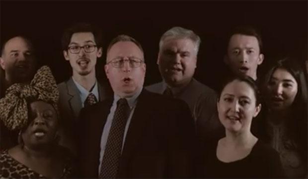 Посол Джордж Крол спел гимн Казахстана