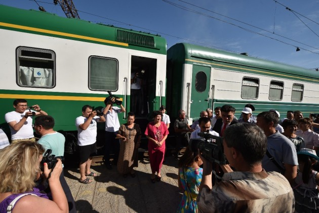 Запущен новый поезд Самарканд— Астана