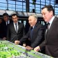 Нурсултан Назарбаев посетил новый железнодорожный вокзал Нұрлы жол