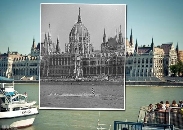 Старый и новый Будапешт на одной фотографии