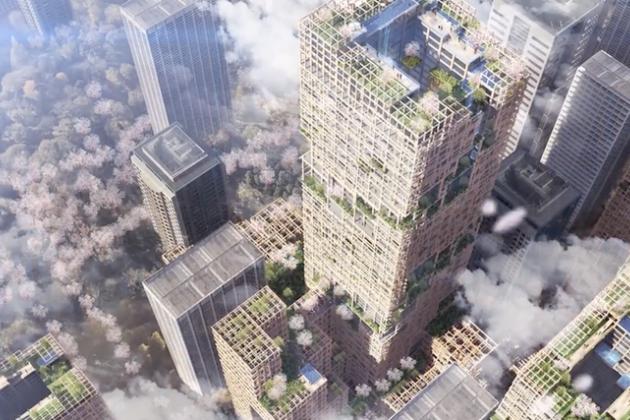 ВТокио собрались построить деревянный небоскреб