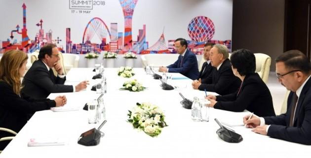 ПрезидентРК встретился сПан ГиМуном иФрансуа Олландом