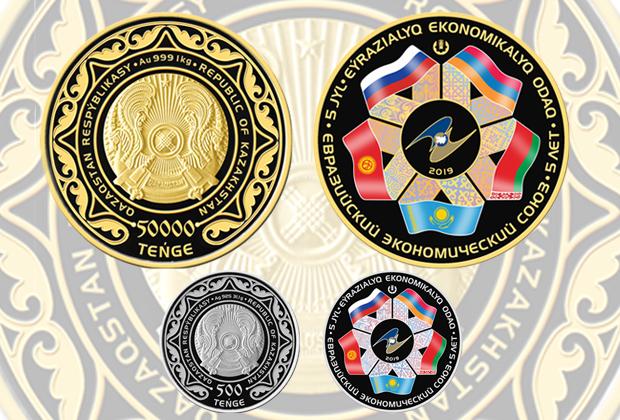 Нацбанк выпустил золотую монету весом 1 килограмм