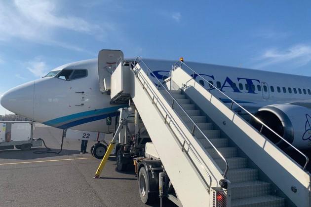 Самолет SCAT запросил аварийную посадку в столичном аэропорту
