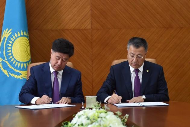 Акимат ЮКО иРегиональный хаб подписали меморандум осотрудничестве