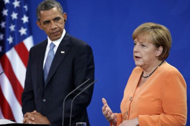 Обама и Меркель назвали условие ослабления санкций к России
